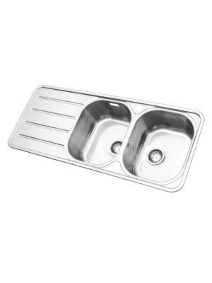 سينک ظرفشویی روکار استیل البرز مدل 726/60